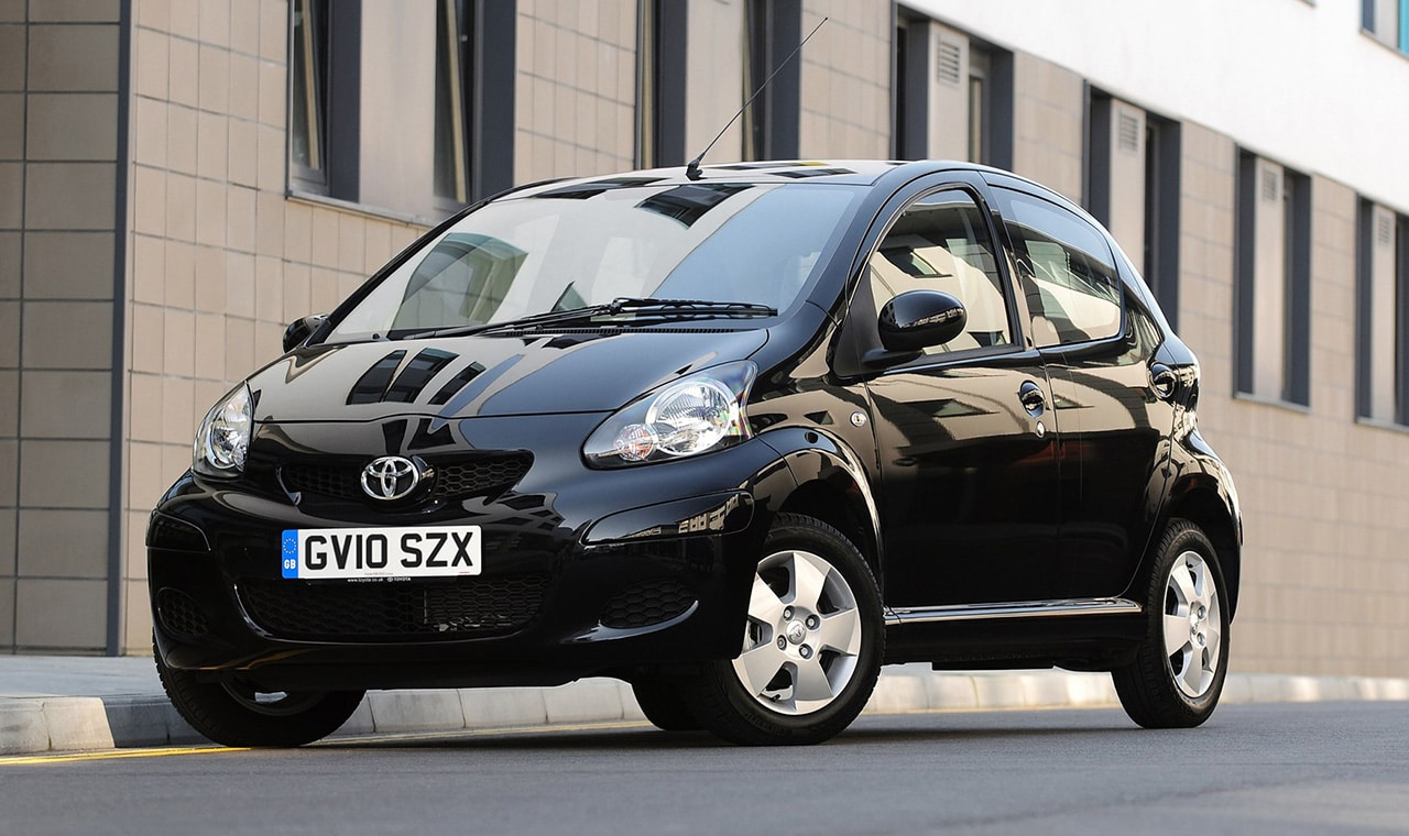car rentals in rhodes - toyota aygo